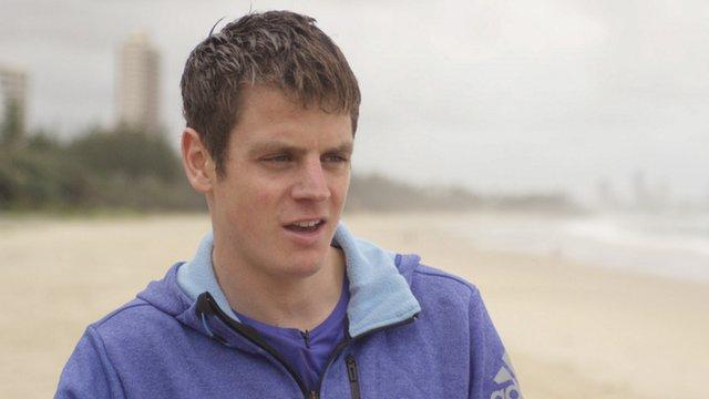Triathlete Jonathan Brownlee