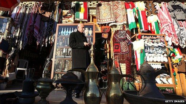 Shop owner in Erbil, Iraqi Kurdistan