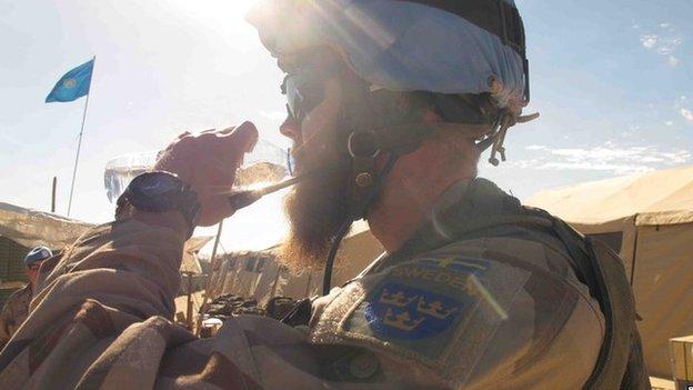 Swedish soldier in Mali