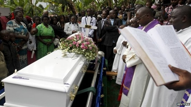 A funeral of a student killed in Garissa, Kenya