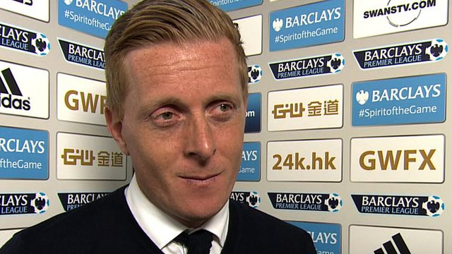 Swansea City head coach Garry Monk