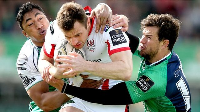 Ulster's Tommy Bowe in action against Connacht in Galway