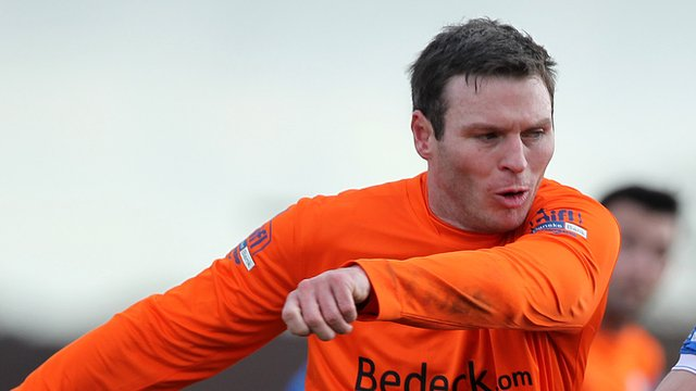 Kevin Braniff was on target for Glenavon against Linfield