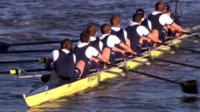 Oxford win the men's boat race