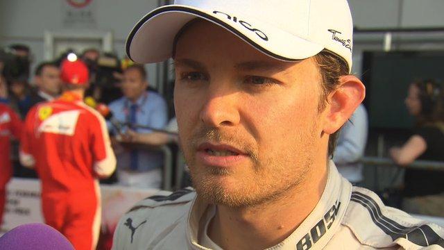 Nico Rosberg criticises 'slow' Lewis Hamilton
