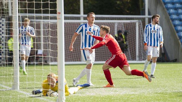 Kilmarnock upset at Aberdeen winner