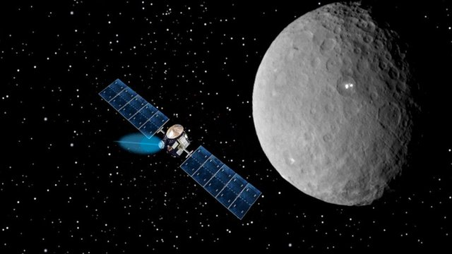 Artist's impression of Dawn at Ceres