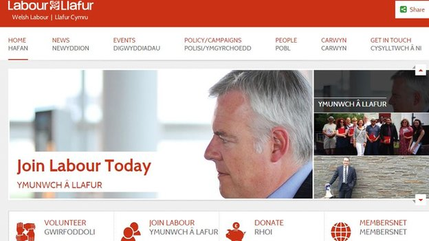 Welsh Labour's Facebook page