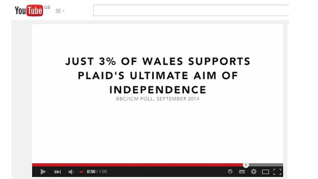 An image from a Welsh Conservative video which criticises Plaid Cymru leader, Leanne Wood