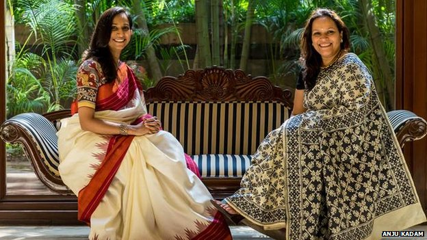 Ally Matthan and Anju Maudgal Kadam vowed to wear saris 100 times over the course of a year - their challenge was quickly taken up by other Indian women
