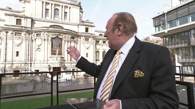 Andrew Neil outside Westminster Hall