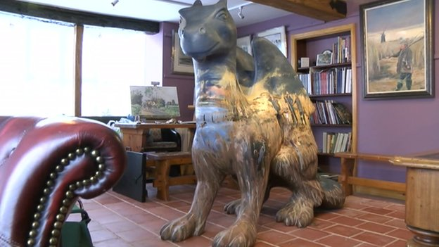 Kieron Williamson's GoGo Dragon design at his home