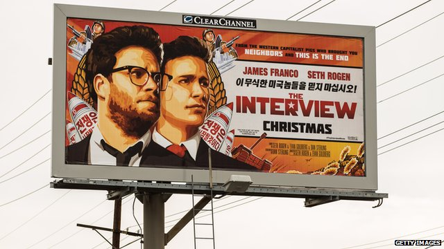 A billboard advertising the film