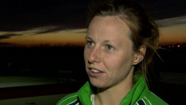 Ireland captain Megan Frazer after Thursday's 1-0 win over Italy at Mossley