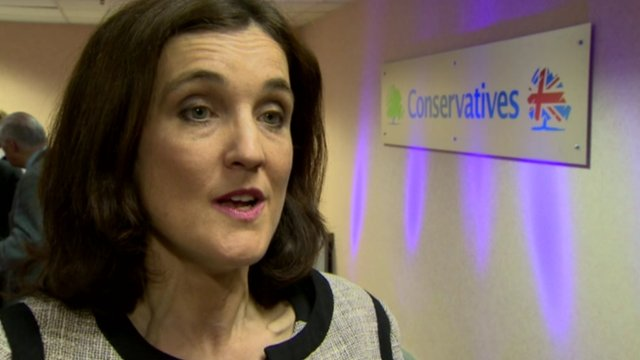 Theresa Villiers said the Conservatives believe in the union and in candidates from different parts of the United Kingdom