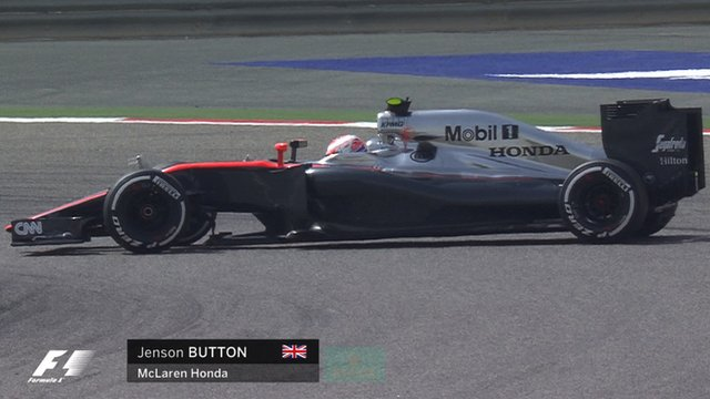 Jenson Button spins out of Bahrain first practice