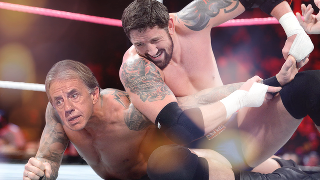 Mark Lawrenson takes on WWE wrestling star Wade 'Bad News' Barrett