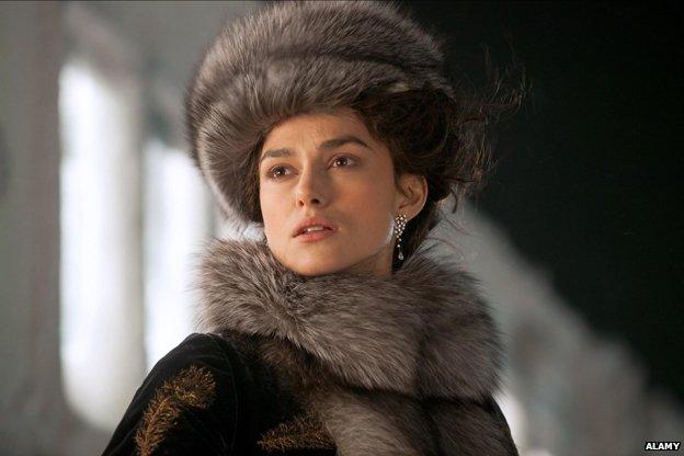 Keira Knightley as Anna Karenina in the 2012 film adaptation