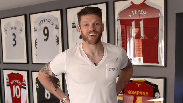 Jamie Mackie gives Football Focus a tour of his memorabilia