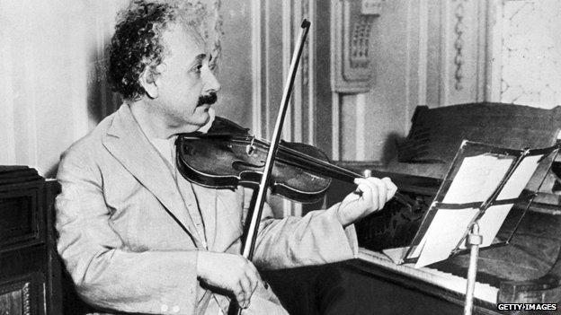 Einstein playing the violin