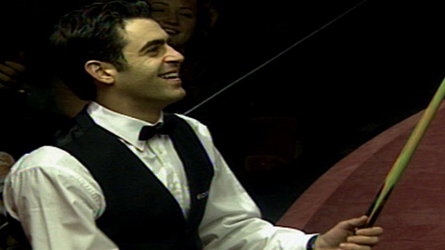 Ronnie O'Sullivan after his 147 in the 1997 World Championship