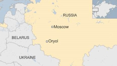 Russia map - Oryol