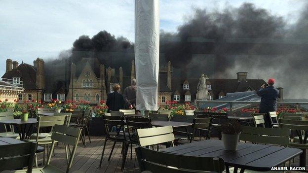 Hotel fire from Ashmolean