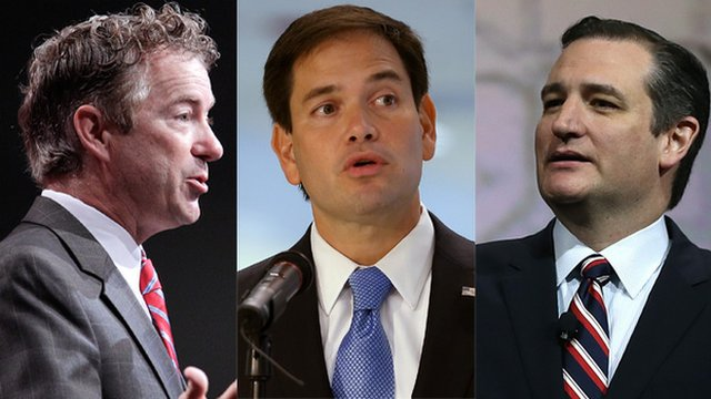 Rand Paul, Marco Rubio and Ted Cruz