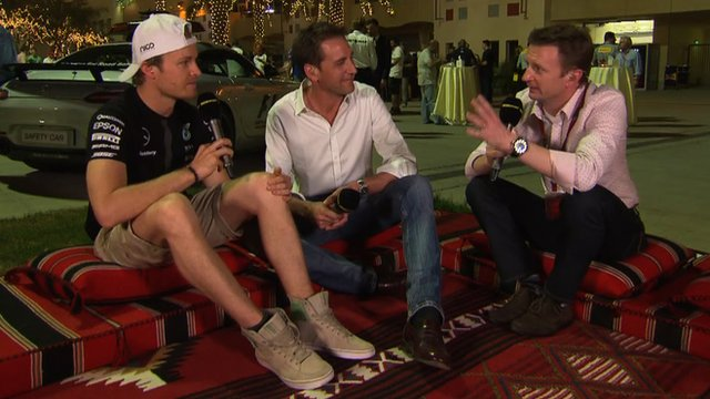Nico Rosberg, Tom Clarkson and Allan McNish