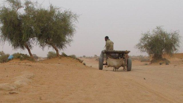 Road leaving Gao, Mali