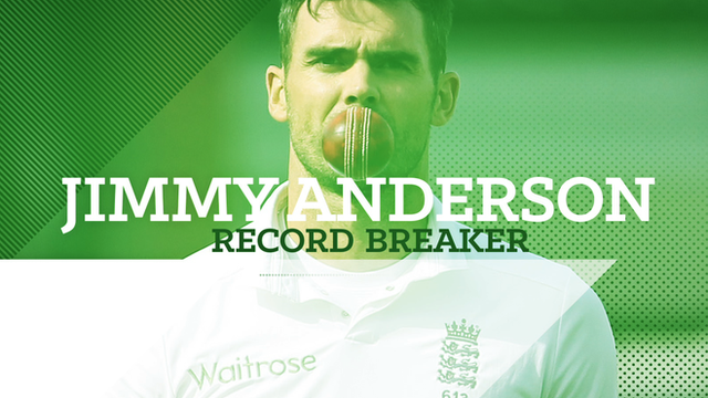 Jimmy Anderson: England bowler's record-breaking Test career