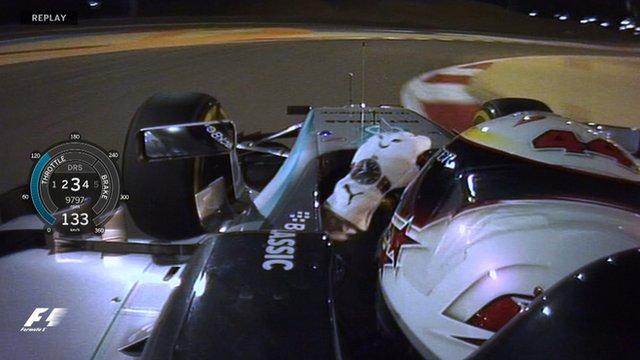 Lewis Hamilton takes pole in Bahrain