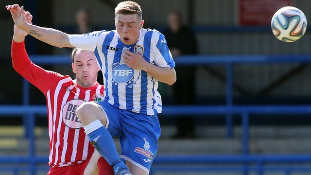 Action from Coleraine against Warrenpoint