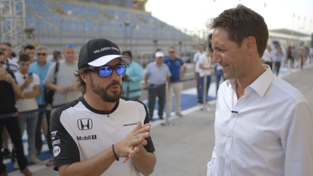 Fernando Alonso and Tom Clarkson