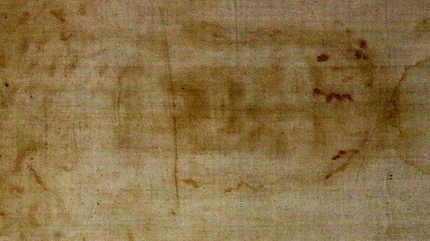 The Turin Shroud. Photo: 18 April 2015