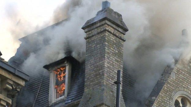 Randolph fire