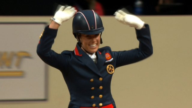Britain's Olympic champion Charlotte Dujardin