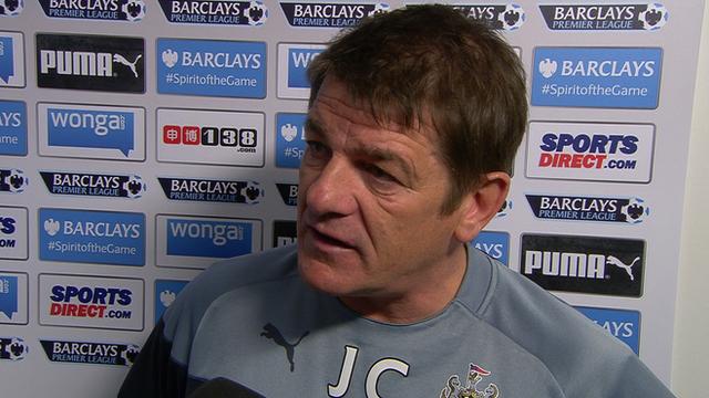 Newcastle's manager John Carver