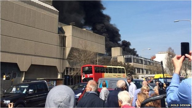 Fire at Hove