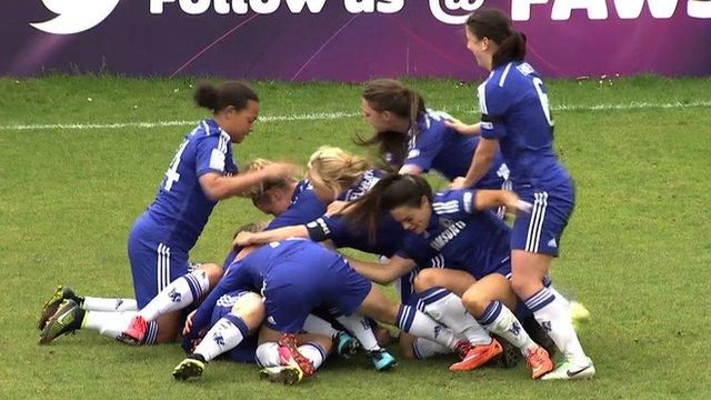 Chelsea Ladies celebrate goal