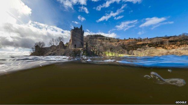 Loch Nis air Street View