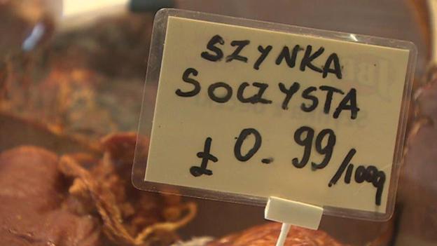 Polish supermarket in Llanelli