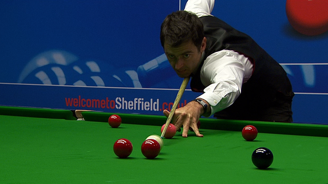 Ronnie O'Sullivan makes a blistering start to his World Snooker Championship first round match with Craig Steadman
