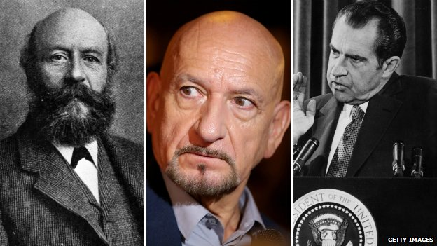 George Cadbury, Ben Kingsley, Richard Nixon