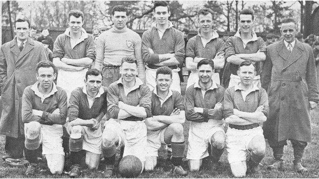 Dundela's 1955 Irish Cup final team