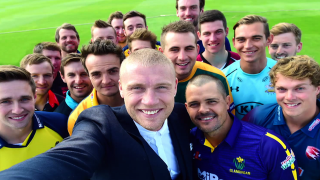 Andrew Flintoff wreaks havoc at T20 Blast competition launch