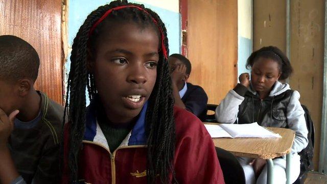 A school pupil in Yeoville, Johannesburg