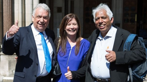Andy Erlam, Angela Moffat and Azmal Hussein,