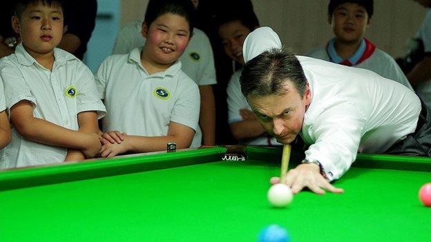 WPBSA chairman Jason Ferguson coaching Chinese schoolchildren