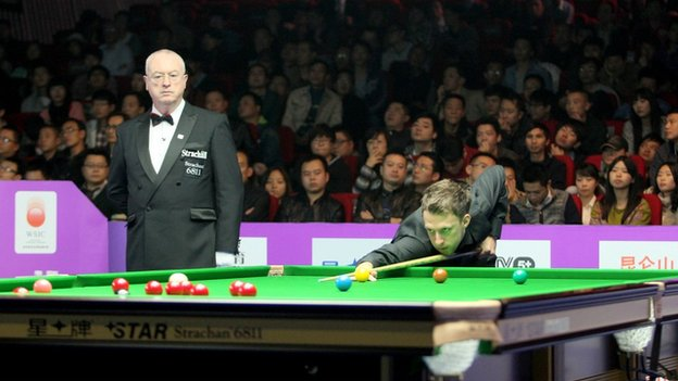 Judd Trump in action at the International Championship in Chengdu